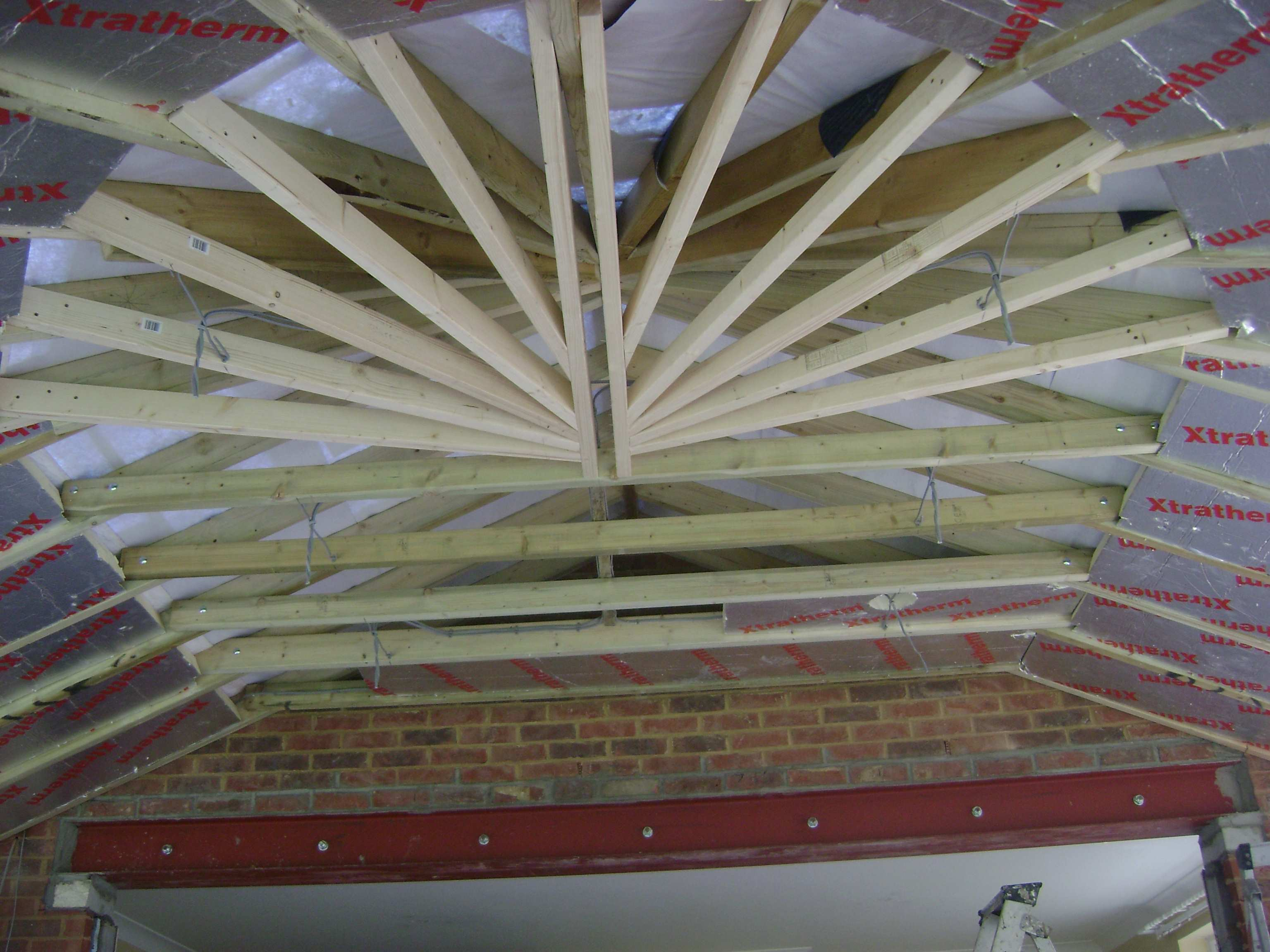 This intricate looking conservatory roof had to be fully insulated